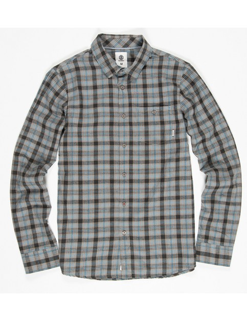 Element Bunker Long Sleeve Shirt in Blue