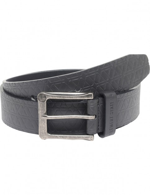 Element Cadent Faux Leather Belt in Flint Black
