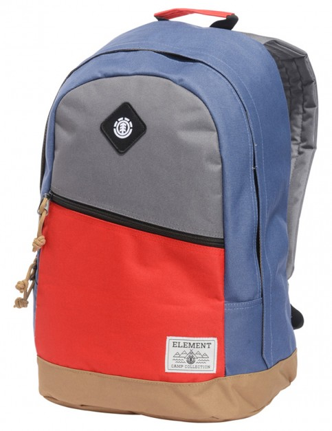 Stone Grey and Fire Red Element Camden Backpack