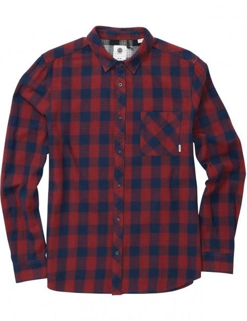 Element Clark Long Sleeve Shirt in Indigo