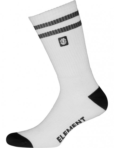 Element Clearsight Crew Socks in Optic White