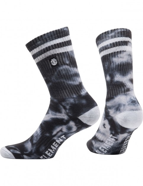 Element Cloudy Socks Crew Socks in Black Tie Dye