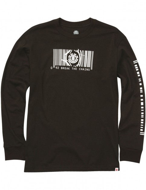 Element Code Ls Long Sleeve T-Shirt in Flint Black