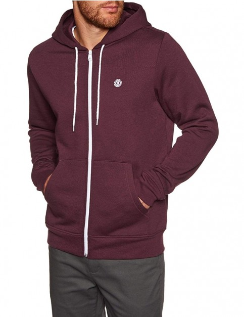 Element Cornell Classic Zipped Hoody in Napa Red