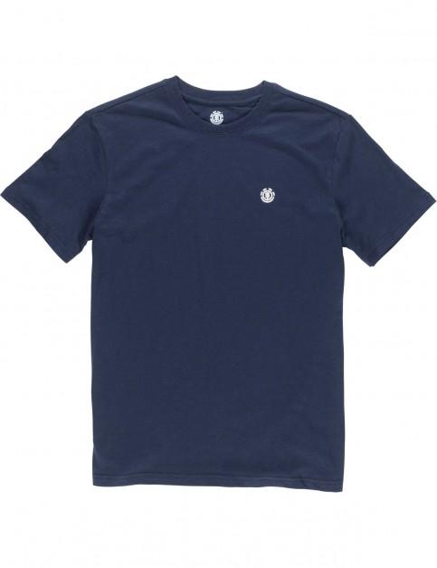 Element Crail Short Sleeve T-Shirt in Eclipse Navy