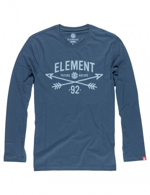 Dark Denim Element Cross Arrows Long Sleeve T-Shirt