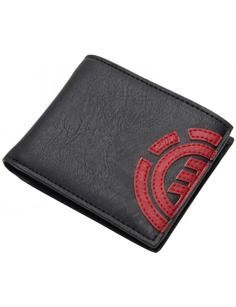 Element Daily Wallet Faux Leather Wallet in Fire Red