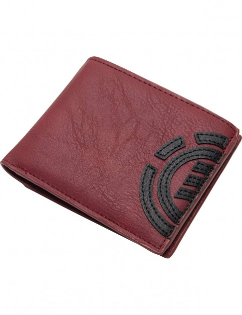 Element Daily Wallet Faux Leather Wallet in Oxblood Red