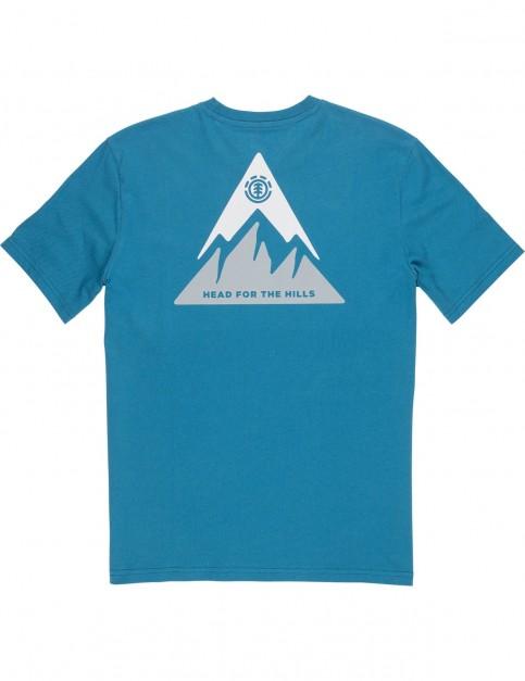 Element Delta Short Sleeve T-Shirt in Blue Steel