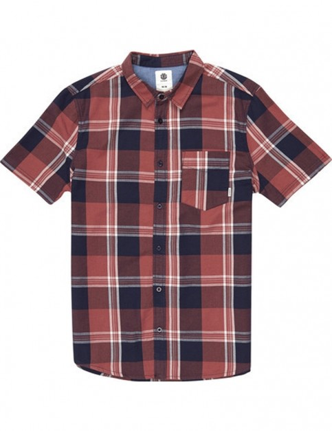 Element Deschutes Short Sleeve Shirt in Marsala