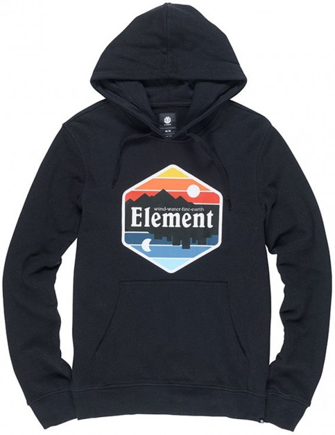 Element Dusk Pullover Hoody in Flint Black