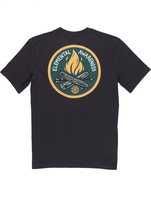 Element EA Logo Short Sleeve T-Shirt in Off Black