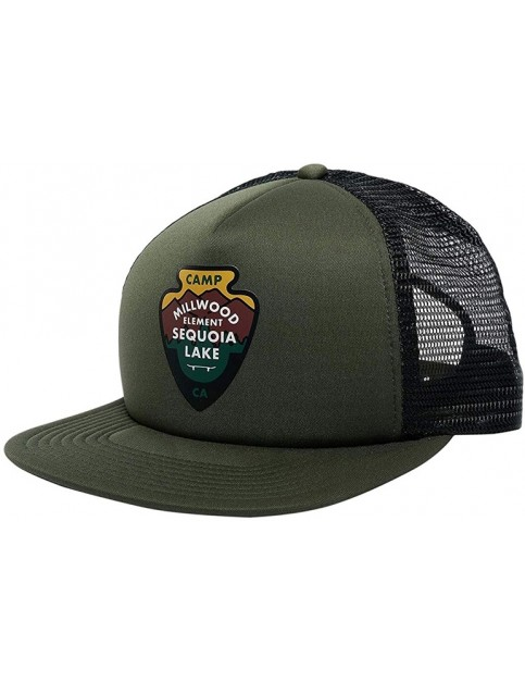 Element Ea Trucker Cap in Olive Drab