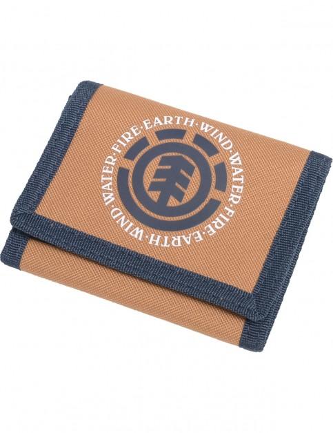 Element Elemental Polyester Wallet in Bronco Brown