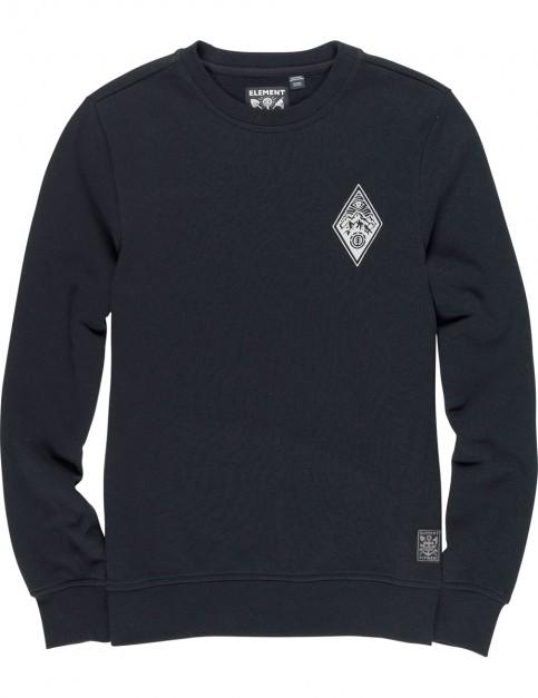Element Eye Crew Sweatshirt in Flint Black
