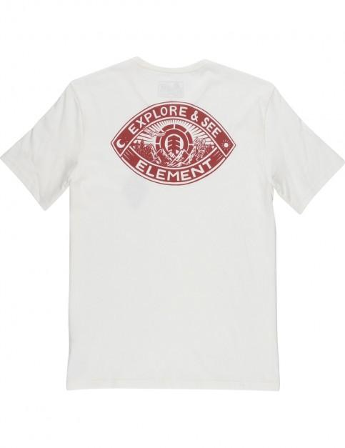 Element Eye Short Sleeve T-Shirt in Bone White