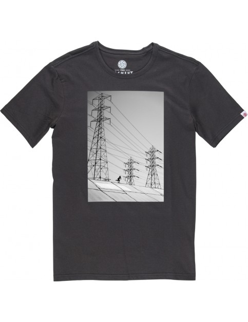 Element French Fred Short Sleeve T-Shirt in Off Black