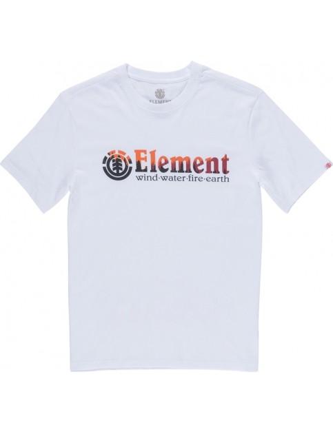 Element Glimpse Horizontal Short Sleeve T-Shirt in Optic White