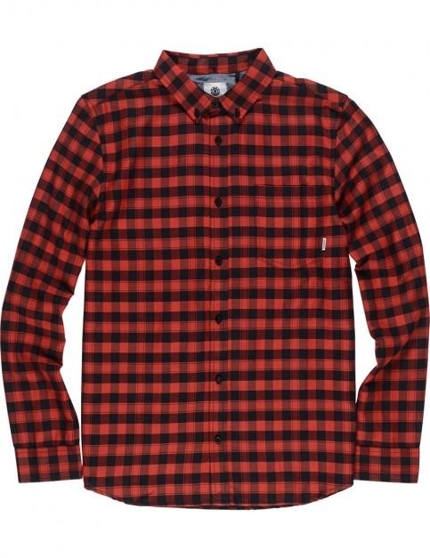Element Goodwin Long Sleeve Shirt in Flint Black