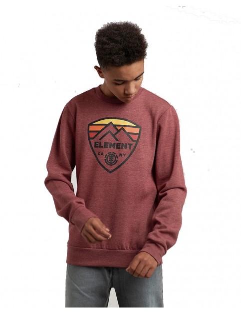 Element Guard Crew Sweatshirt in Ruby Wine Ht