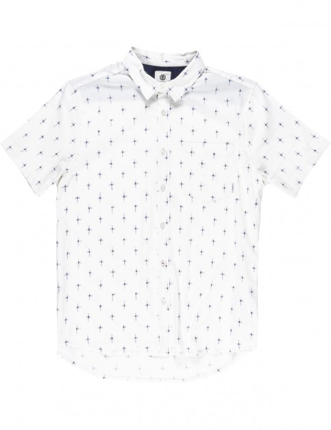 Element Hallen Short Sleeve Shirt in Bone White