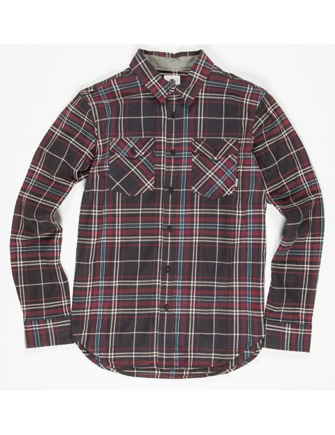Element Hawkins Long Sleeve Shirt in Flint Black