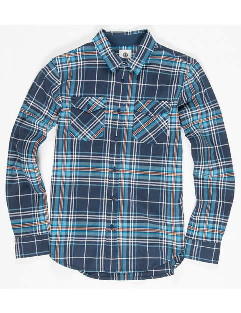 Element Hawkins Long Sleeve Shirt in Eclipse Navy