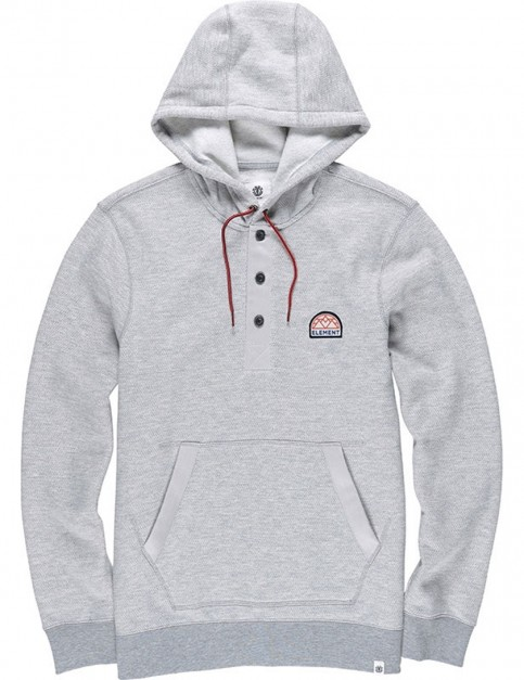 Element Highland Henley Pullover Hoody in Grey Heather