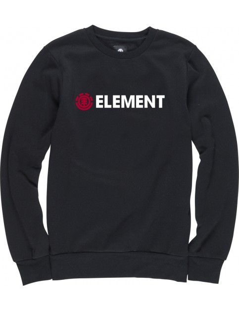 Element Horizontal Crew Sweatshirt in Flint Black