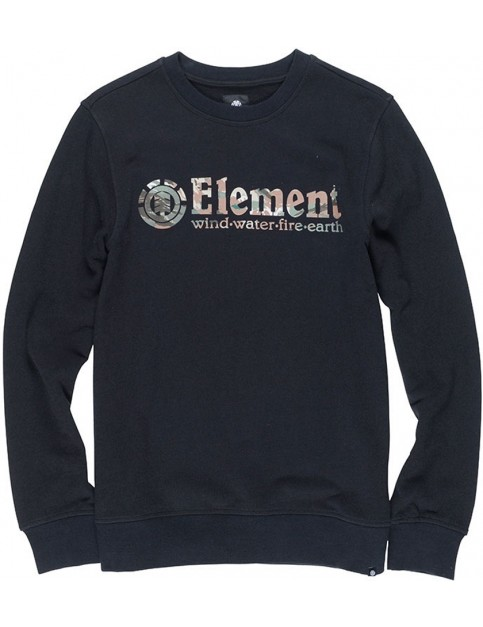 Element Horizontal Fill Crew Full Zip Fleece in Flint Black