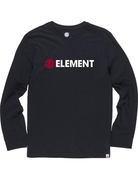 Element Horizontal Long Sleeve T-Shirt in Flint Black
