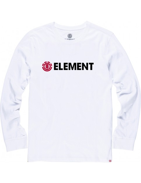 Element Horizontal Long Sleeve T-Shirt in Optic White