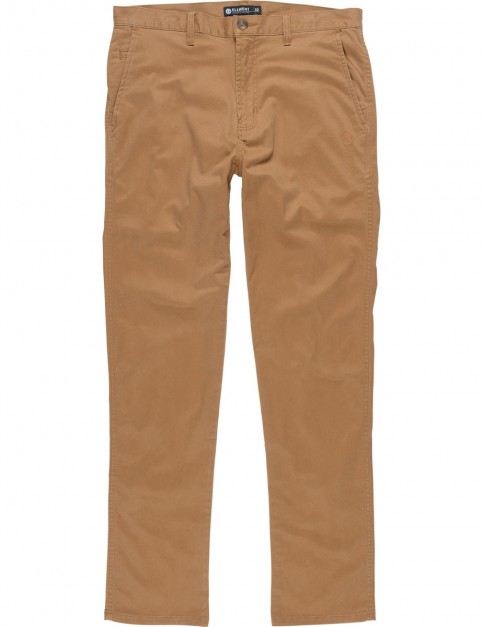 Element Howland Classic Chino Trousers in Bronco Brown