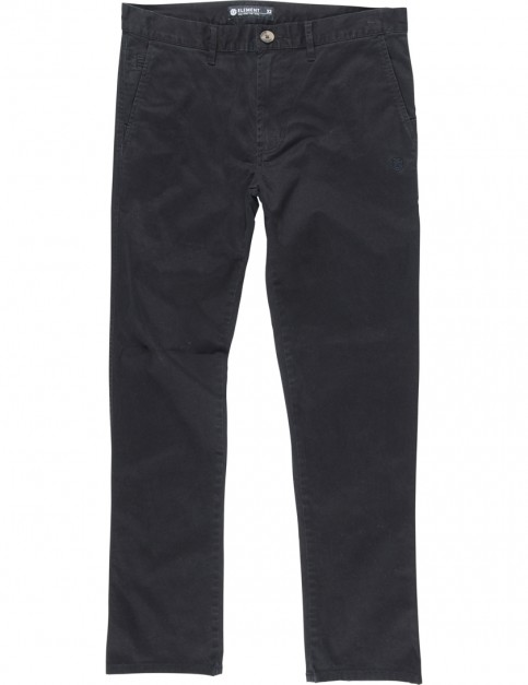 Element Howland Classic Slim Fit Trousers in Black