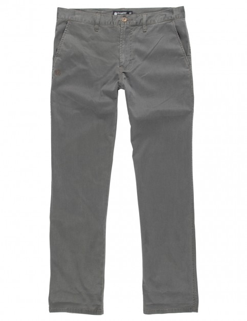 Element Howland Slim Fit Trousers in Stone Grey
