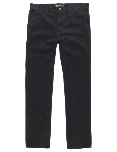 Element Howland Slim Fit Trousers in Flint Black