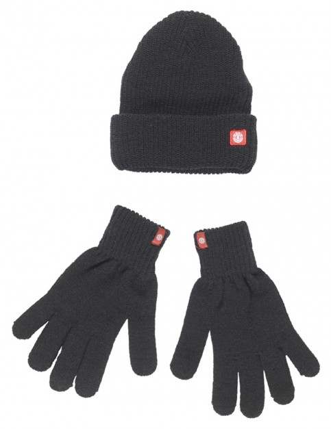 Dark Charcoal Element Icon Combo Beanie and Gloves