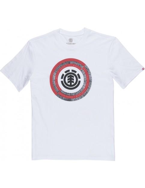 Element Iris Short Sleeve T-Shirt in Optic White