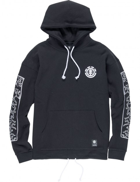 Element Keith Haring Jump Pop Pullover Hoody in Flint Black
