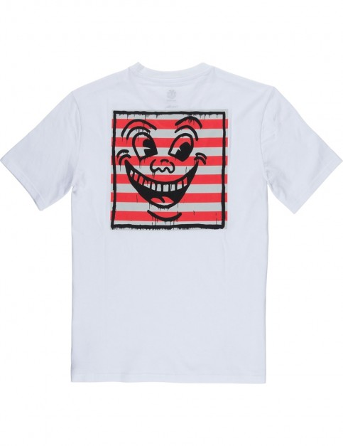 Element Keith Haring Smile Short Sleeve T-Shirt in Optic White