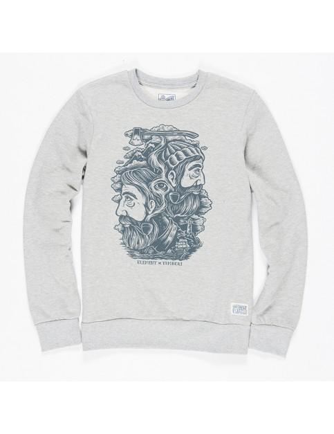 Grey Heather Element Logs Sweatshirt