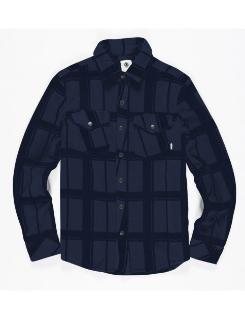 Element Lorean Long Sleeve Shirt in Eclipse Navy
