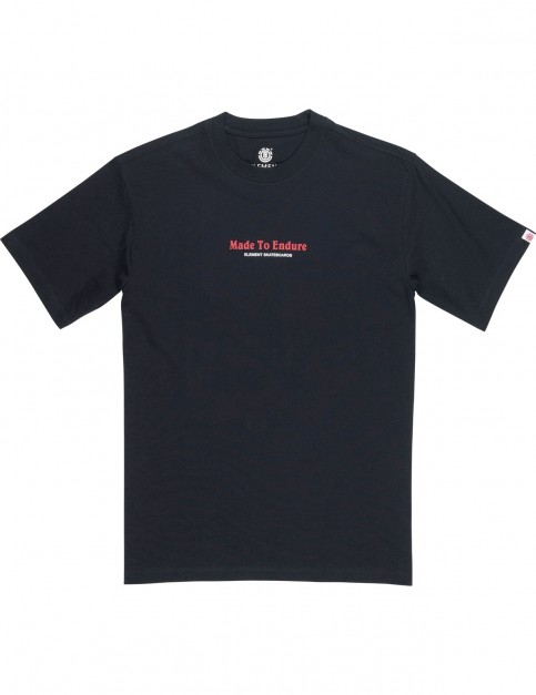 Element Made Short Sleeve T-Shirt in Flint Black