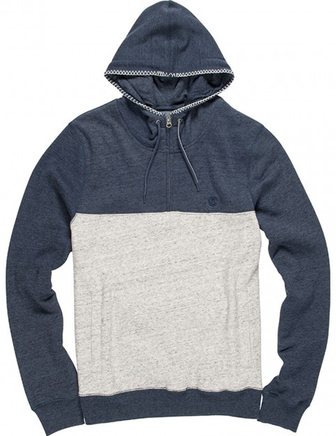 Element Meridian 1/4 Zip Pullover Hoody in Grey Heather