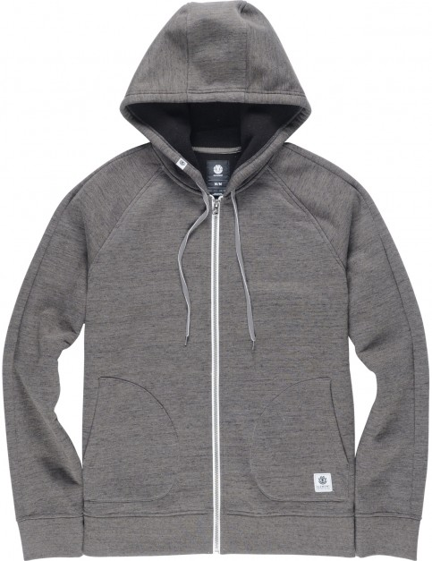 Element Meridian Bonded Zipped Hoody in Charcoal Heather
