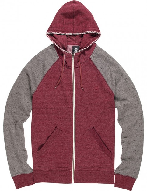 Element Meridian Zipped Hoody in Napa Red