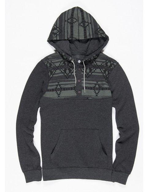 Charcoal Heather Element Native Cornell Henley Pullover Hoody