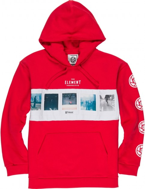 Element Negative Pullover Hoody in Fire Red
