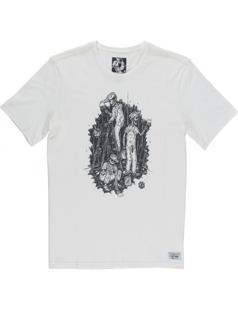 Element Night Shift Short Sleeve T-Shirt in Off White