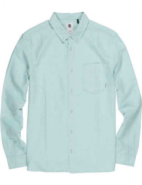 Element Oxford Long Sleeve Shirt in Brook Green
